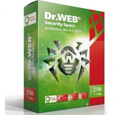 Антивирус Dr.Web для Windows Security Space на 1 год, на 2 ПК