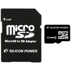 Накопитель Flash Memory Сard micro-SDHC  4 32Gb Silicon Power