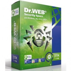 Антивирус Dr.Web Security Space 3-Desktop 1 year